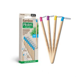 Bamboo Piksters Angled 24 Pack Sizes 00, 1, 3 & 5